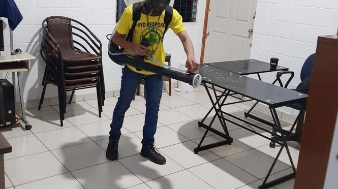 DESINFECTAN TEMPLO BAUTISTA DE CIUDAD ARCE