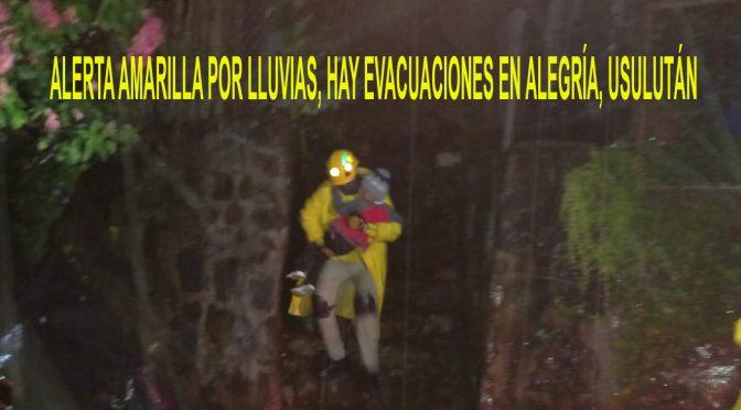 EVACUACIONES POR LLUVIAS EN EL ORIENTE DEL PAÍS