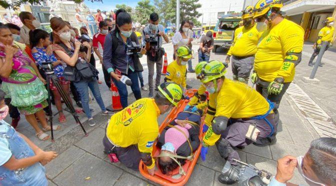 COMANDOS RECUERDA VÍCTIMAS DE TERREMOTO